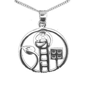 Mackintosh Motif Silver Plated Pendant 9165